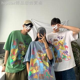 Áo Thun Tay Ngắn In Họa Tiết Graffiti Phong Cách Hip Hop Cho Nam Và Nữ