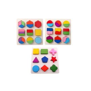 Đồ chơi lắp ghép hình học gỗ – đồ chơi gỗ an toàn trí tuệ cho bé