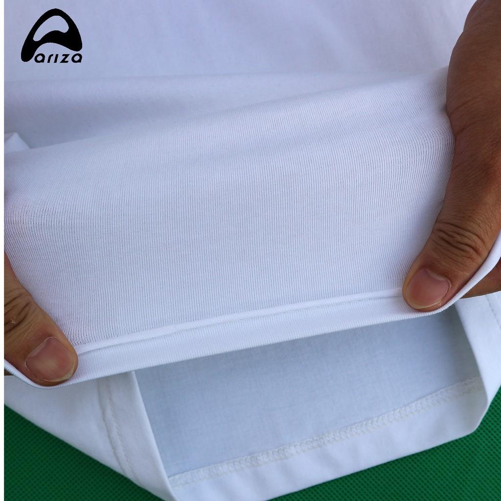 Áo Thun Cộc Tay Nam Ariza chất Cotton co giãn Thoáng Mát Thấm Mồ Hôi Cực Tốt