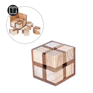 CT Wooden Cube Luban Kong Ming Lock Toy