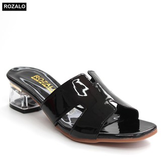 Guốc cao gót 5P đế vuông gót trong Rozalo R2222