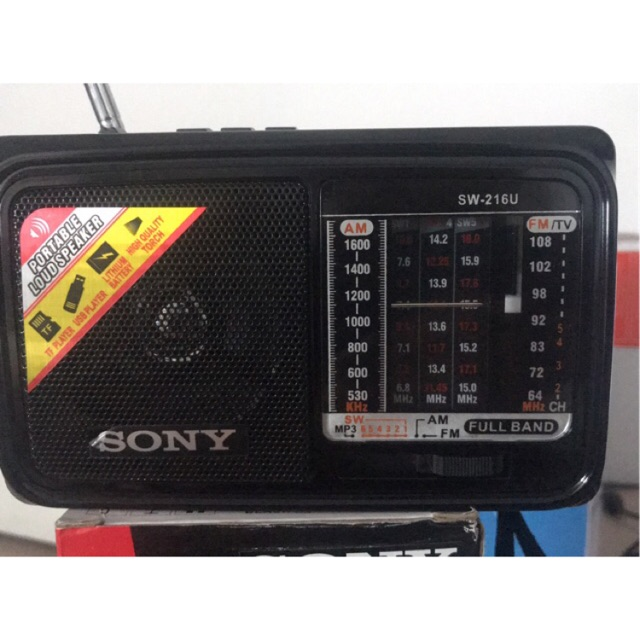 Radio sony Sw-216U ,sd , usb led ngủ tặng củ sạc