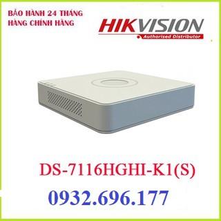 Đầu ghi hình HIKVISION DS-7116HGHI-K1 16 kênh HD 1080P lite, 1 SATA, Audio, thêm 2 Camera IP, chuẩn nén H.265+