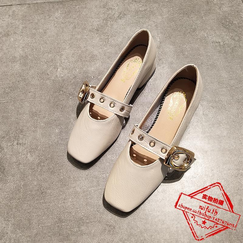 คำปากตื้นหญิงหัวตารางส้นต่ำกับอังกฤษย้อนยุครองเท้ายายลมสั้นกับรองเท้าทำงานฤดูใบไม้ผลิและฤดูใบไม้ร่วง