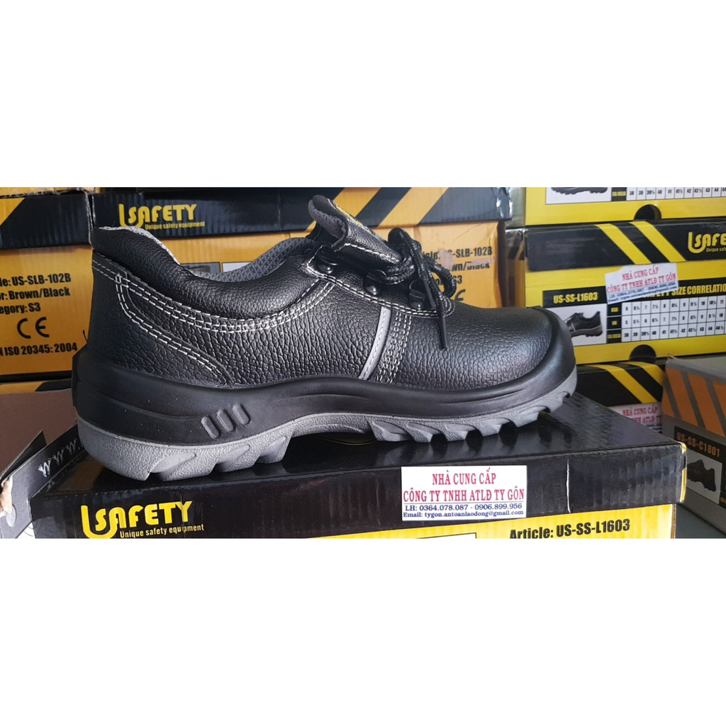 Giày bảo hộ Usafety - mũi thép - đế thép ( US VÀNG)