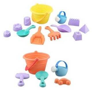 Baby soft rubber bucket color random beach toy set