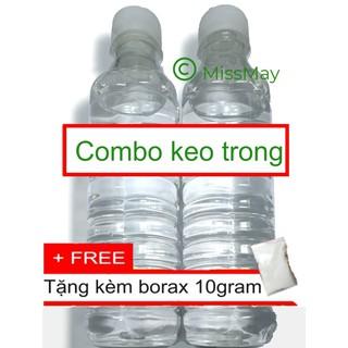 Combo 2 chai keo trong 660ml (nguyên liệu slime trong)