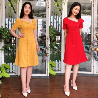 Đầm Xòe Cổ Lệch Misa Fashion Nữ Tính, Dịu Dàng, Giá Rẻ – MS372