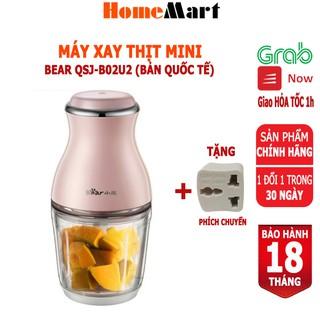 Máy xay thịt Bear QSJ-B02U2, dung tích 600ml (Hàng chính hãng 1 đổi 1 trong 30 ngày, bảo hành 18 tháng) - HomeMart