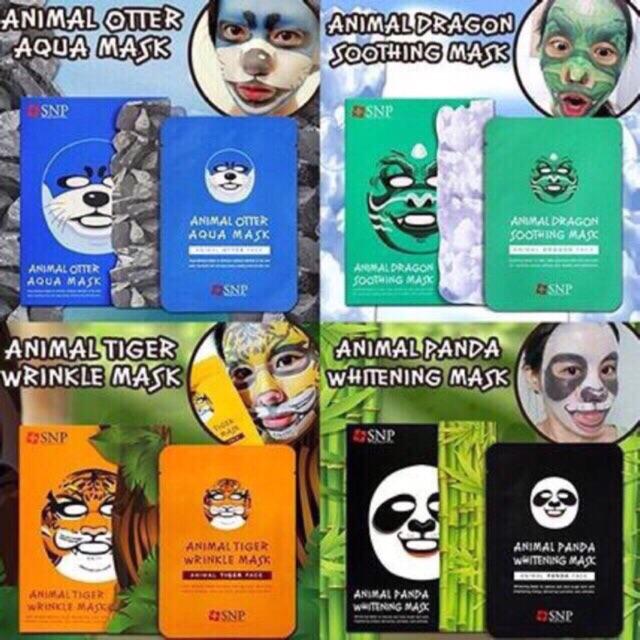 Hộp 10 Mặt nạ giấy hình thú SNP Auth Korea