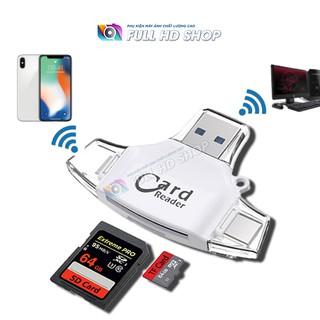 Đầu đọc thẻ nhớ SD và Micro SD – Dùng được cho máy tính và điện thoại iPhon.e 5/6/7/8/X – Full HD Shop
