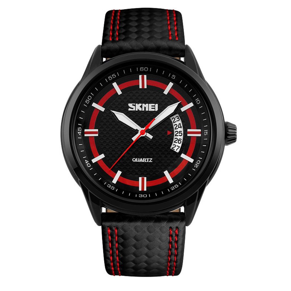 Đồng hồ nam Skmei TI09 có lịch ngày dây da cao cấp