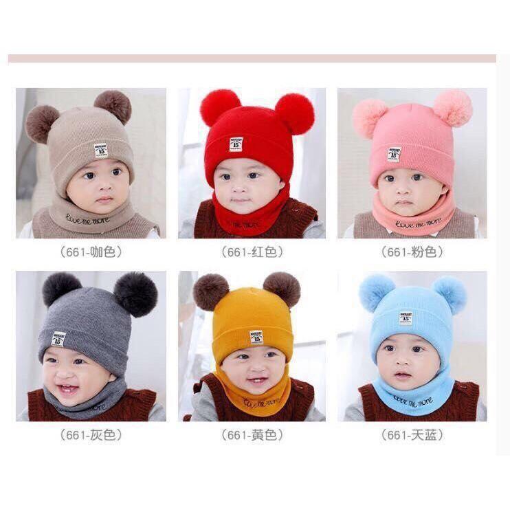 Sét Mũ len 2 quả bông kèm khăn cho bé yêu - 13711762 , 1832392266 , 322_1832392266 , 70000 , Set-Mu-len-2-qua-bong-kem-khan-cho-be-yeu-322_1832392266 , shopee.vn , Sét Mũ len 2 quả bông kèm khăn cho bé yêu