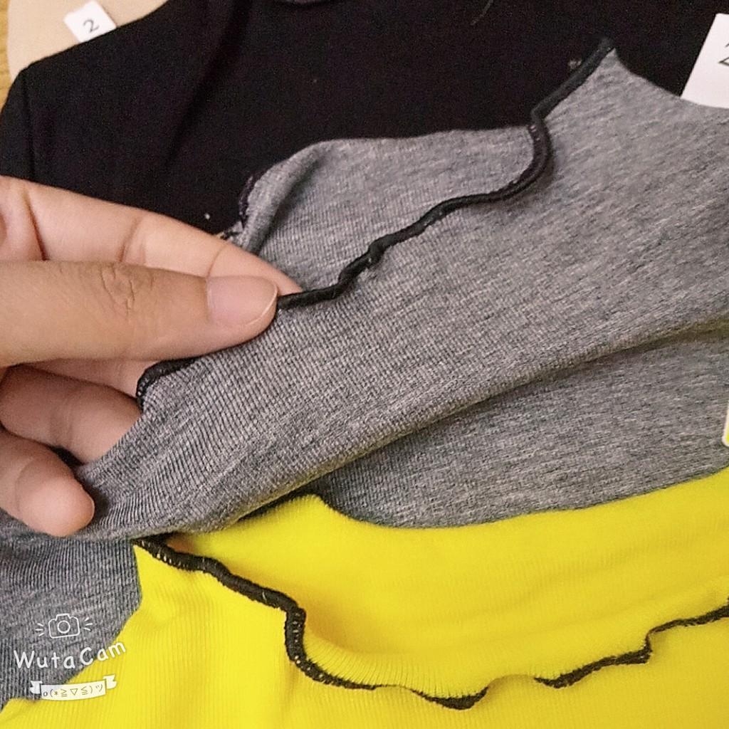 Áo cotton len in hình mèo QATE324 dễ thương cho bé gái