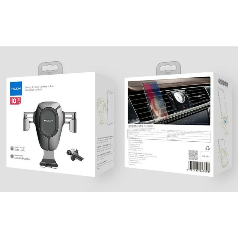 Kẹp điện thoại cửa gió ôtô Rock Gravity Air Vent Car Mount Pro 8-) 8-)