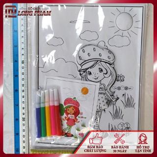 Tranh nhựa 3d tô màu kèm bút lông cho bé