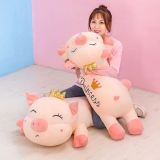 Gấu bông lợn PRINCESS Vương miện siêu mềm( Hàng Nhập) thumbnail