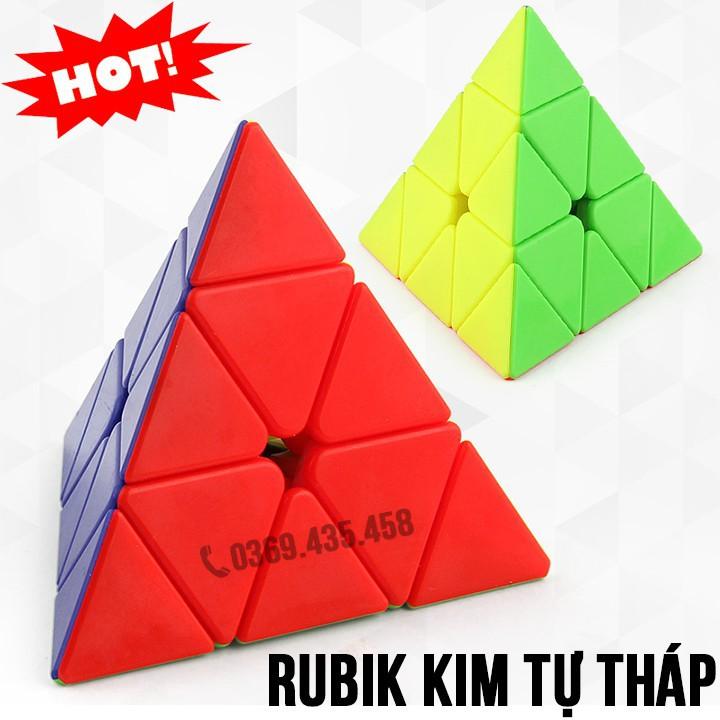 Rubik Kim Tự Tháp đẹp xoay trơn không kẹt rít  độ bền cao. Đồ chơi Rubik Tam Giác YJ Guanlong Pyraminx