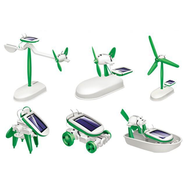 Đồ chơi-Bộ đồ chơi lắp ghép năng lượng mặt trời 6 in 1 (253)-Đồ chơi xếp hình, lắp ráp
