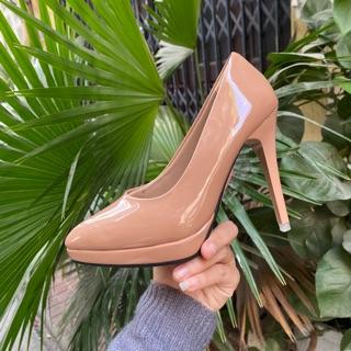 Giày cao gót LCSHOES đúp đế cao 11 gót nhọn màu nude (màu da)
