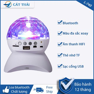 Loa Bluetooth  L740 Kiêm Đèn Vũ Trường - Loa Blutooth Không Dây Có Đèn Mini Dễ Thương Giá Rẻ