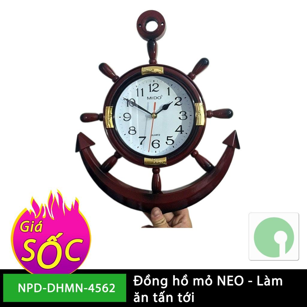Đồng hồ treo tường mỏ neo giá rẻ - nhựa tổng hợp giả gỗ sang trọng - mới 100% (Màu nâu) - NPD-DHMN-4