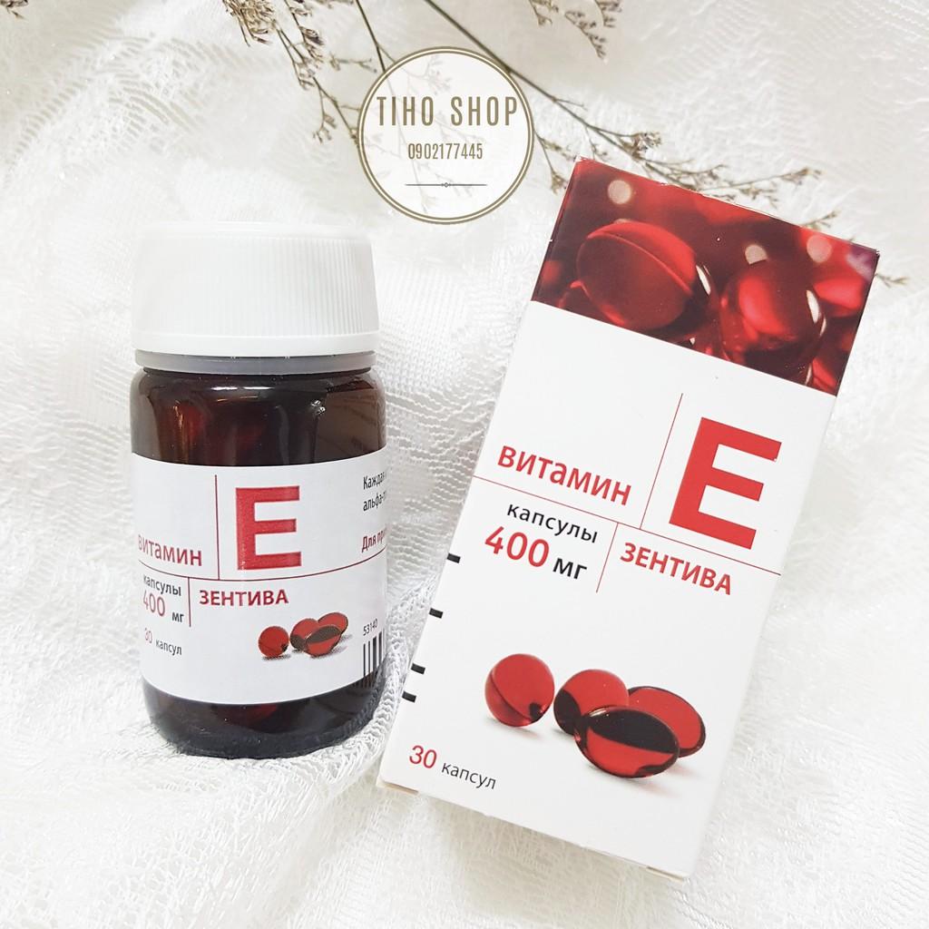 Viên Uống Vitamin E 400mg Zentiva 30 Viên