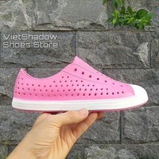 Giày nhựa đi mưa Native- Chất liệu nhựa xốp siêu nhẹ, không thấm nước - Màu hồng trắng và hồng ful thumbnail