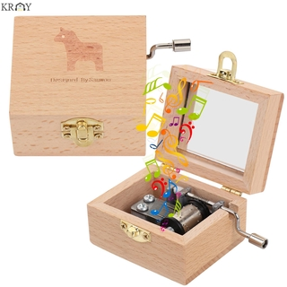 KRNY Thanksgiving Day Music Box Birthday Antique Engraved Wooden Hand Crank Mother s Day Classical Memorial Gifts Valentine s Day Musical Boxes thumbnail
