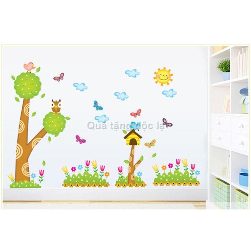 Decal vườn hoa và những chú bướm xinh đẹp A846 - 3358567 , 668277539 , 322_668277539 , 60000 , Decal-vuon-hoa-va-nhung-chu-buom-xinh-dep-A846-322_668277539 , shopee.vn , Decal vườn hoa và những chú bướm xinh đẹp A846