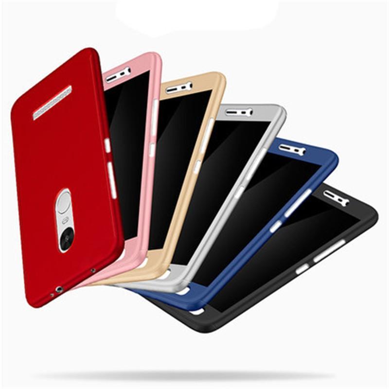 Ốp lưng full cover kèm kính cường lực cho Xiaomi Redmi Note 3