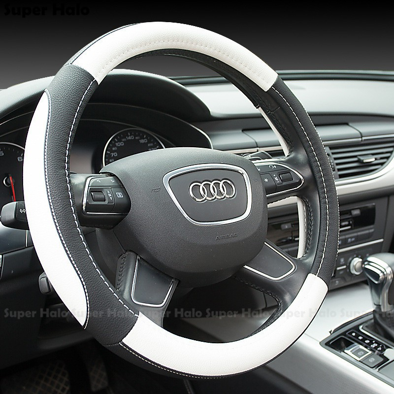 Universal High-Grade Microfibre Leather Car Steering Wheel Cover Automobile