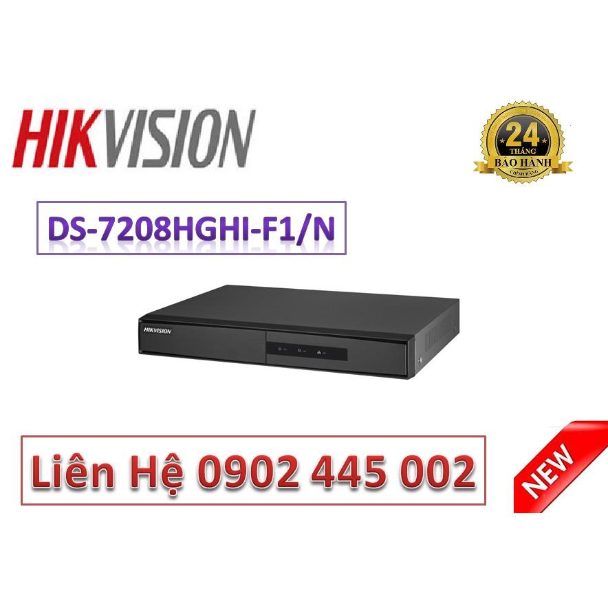 ĐẦU GHI HÌNH HIKVISION 8 KÊNH DS-7208HGHI-F1/N