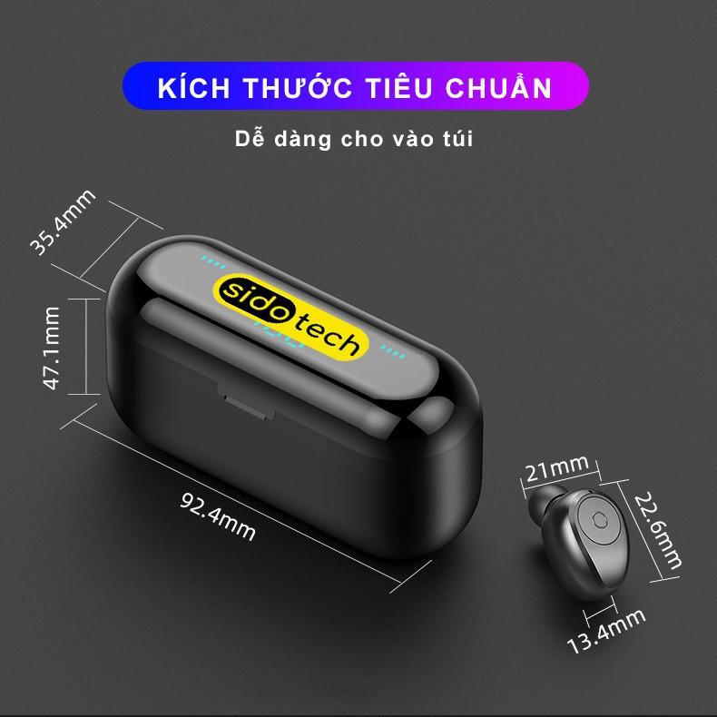 Tai nghe không dây SIDOTECH F9 Plus nâng cấp nút bấm cảm ứng, màn hình LED, chip CV8.0 tăng thời lượng pin 4H