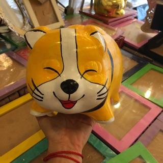 Heo đất vẽ 3D- chú chó Happy