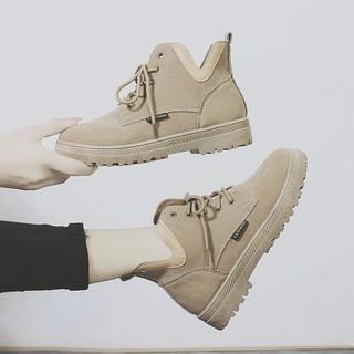 Boot Nữ 𝑭𝑹𝑬𝑬𝑺𝑯𝑰𝑷 Boot Nữ Da Lộn Cột Dây Cá Tính Phong Cách Châu Âu B70 - Mery Shoes