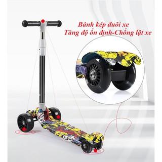 Xe trượt Scooter gấp cho trẻ em 2-6-12 tuổi Xe đạp trẻ em nam và nữ Xe trượt Scooter bốn bánh một chân Trẻ em thumbnail