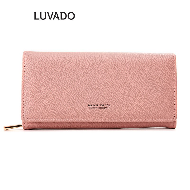 Ví nữ cầm tay dáng dài đẹp FOREVER FOR YOU nhiều ngăn thời trang cao cấp đựng tiền LUVADO VD305
