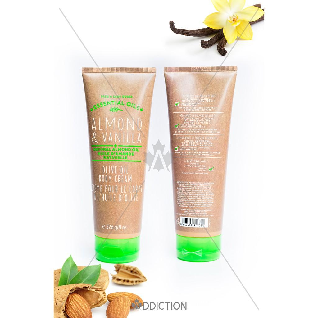 Kem dưỡng thể Essential Oils Almond & Vanilla - Bath And Body Works (226g)