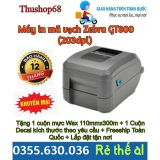 Máy in mã vạch Zebra GT800 (203dpi) - Giá chưa bao gồm VAT thumbnail