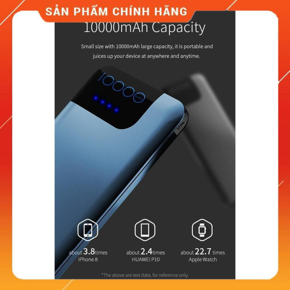 Pin sạc dự phòng Rockspace P40 10000 mAh hỗ trợ sạc nhanh Quickcharger QC3.0 cho Samsung và các dòng androind