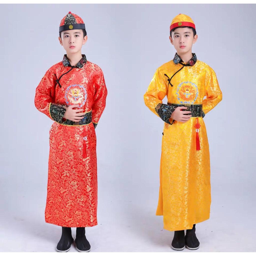 Trang Phục Cổ Trang Trung Quốc Bé Trai Nhà Thanh Trang Phục Ngũ A Ca Tiểu Hoàng Đế - Hàng Luôn Có Sẵn