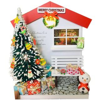 Mô Hình Gỗ DIY Noel Để Bàn - Thế Giới Tí Hon - Cây Thông Giáng Sinh - NOEL02