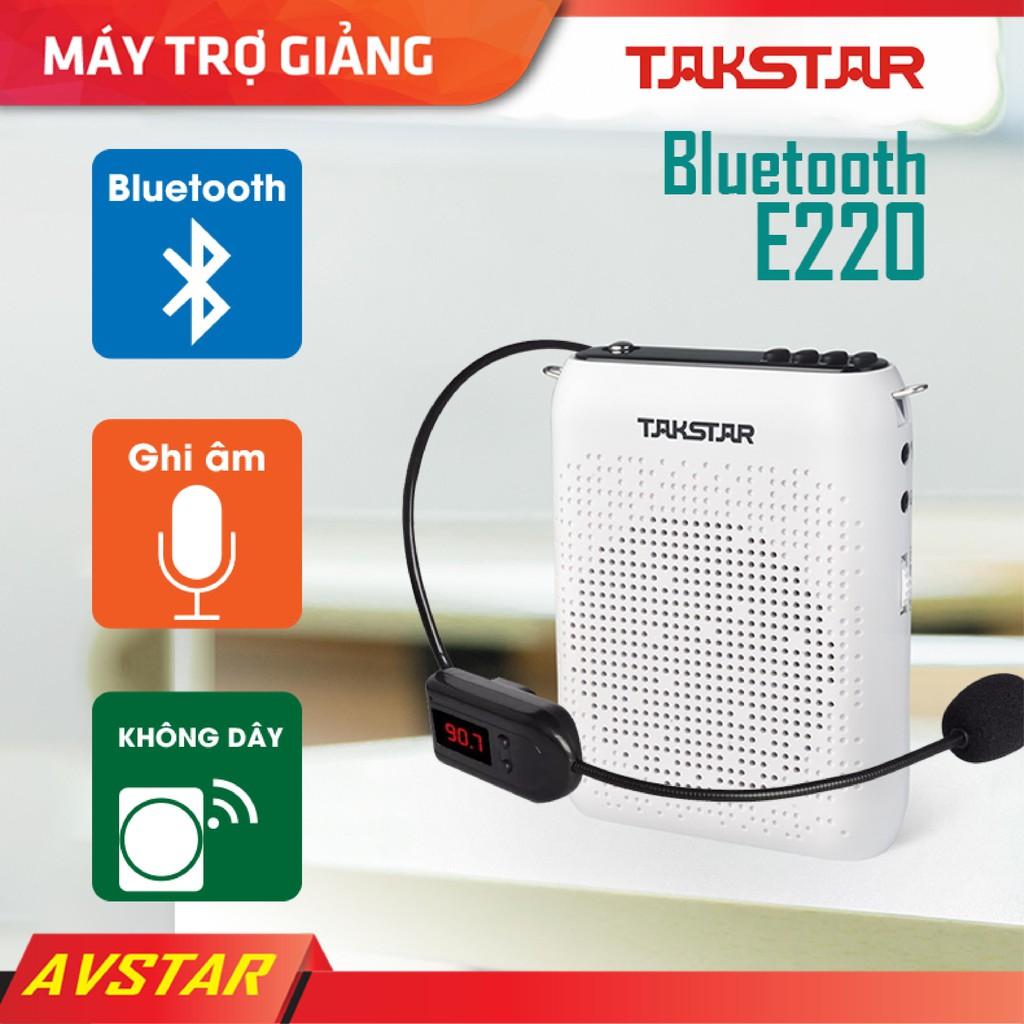 【Chính hãng】Takstar E220 loa mic Máy trợ giảng Không dây, Bluetooth, FM, usb,công suất lớn, hướng dẫn viên, Giáo viên