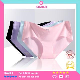 Quần lót bầu su đúc bảo vệ thai nhi chuẩn y tế không cấn bụng, quần lót bà bầu cạp chéo kháng khuẩn Kazila QLB1