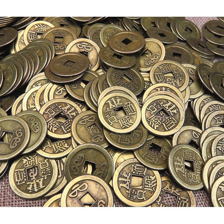 Đồng Tiền Xu Cổ Phong Thuỷ Bằng Đồng - Bỏ Ví - Chiêu Tài Lộc
