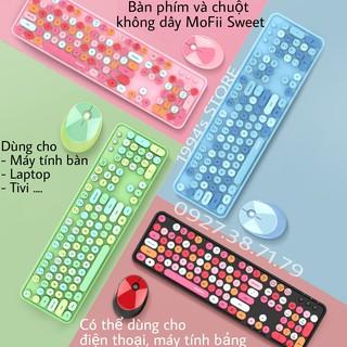 (SẴN) Combo bàn phím và chuột không dây MoFii N720 - MoFii Sweet Fullsize 104 phím Wireless 2.4G siêu đẹp, siệu dễ thươg thumbnail