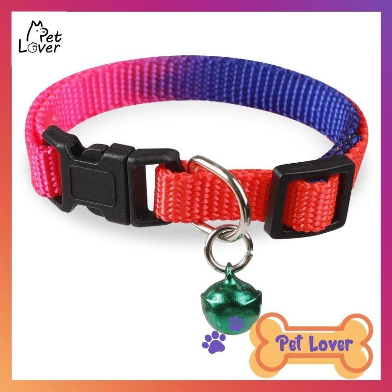 [FREESHIP] Vòng cổ cho mèo, vòng cổ cho chó mèo, vòng cổ cầu vồng , dễ thương, kèm chuông, mở bấm tiện dụng – Petlover-