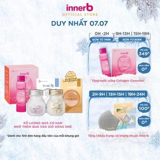 Combo 3 thực phẩm bảo vệ sức khỏe InnerB Aqua Rich Doubleup + InnerB Snow White & hộp 6 chai Collagen InnerB Glowshot thumbnail