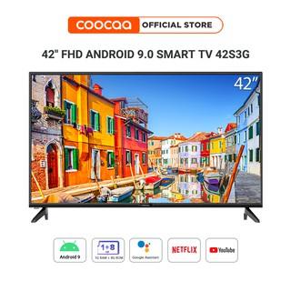 SMART TV Full HD Coocaa 42 inch - Android 9.0 TV - Wifi - viền mỏng - Model 42S3G - tivi giá rẻ Chân viền kim loại